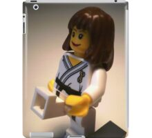 Judo Karate Martial Arts Girl Custom Minifigure iPad Case/Skin