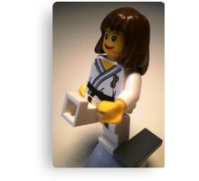 Judo Karate Martial Arts Girl Custom Minifigure Canvas Print