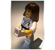 Judo Karate Martial Arts Girl Custom Minifigure Poster