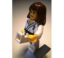 Judo Karate Martial Arts Girl Custom Minifigure Photographic Print