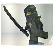 Black Ninja Custom Minifigure Poster