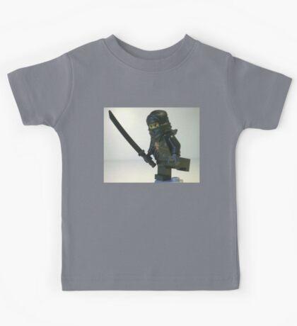 Black Ninja Custom Minifigure Kids Tee