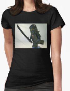 Black Ninja Custom Minifigure Womens Fitted T-Shirt