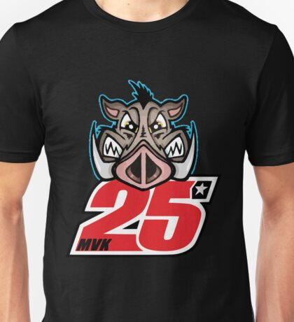 Maverick Vinales 25 and the boar Unisex T-Shirt
