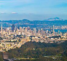 SF, Oakland & De Young in one Aerial shot by David  Perea