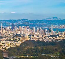 SF, Oakland & De Young in one Aerial shot by David  Perea