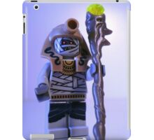 Mummy with Gold Head Gear with Custom Magical Jewelled Staff iPad Case/Skin