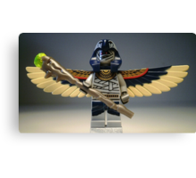 Flying Mummy Minifigure with Wings & Custom Magical Staff Canvas Print