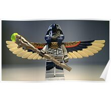 Flying Mummy Minifigure with Wings & Custom Magical Staff Poster