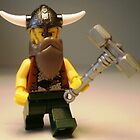 Thor Minifig Viking Custom Minifigure with Custom Beard  by Customize My Minifig