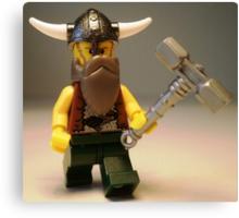 Thor Minifig Viking Custom Minifigure with Custom Beard  Canvas Print