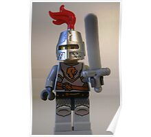 Lion Knight Armor with Lion Head and Belt Poster