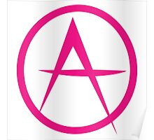 HOT PINK ANARCHY symbol Poster