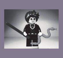 Evil Magician Custom Minifigure with Magic Wand & Snake Kids Clothes
