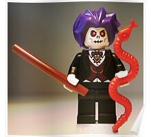 Evil Magician Custom Minifigure with Magic Wand & Snake Poster