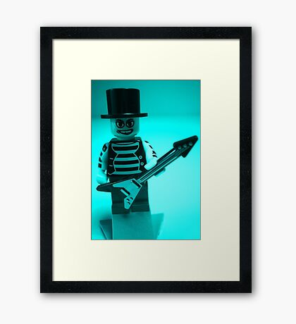 Emo, Goth, Punk, Band Guitarist Custom Minifigure Framed Print