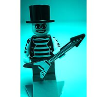 Emo, Goth, Punk, Band Guitarist Custom Minifigure Photographic Print
