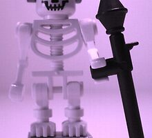 Skeleton Zombie Soldier with Custom Minifigure Helmet and baooka by Customize My Minifig