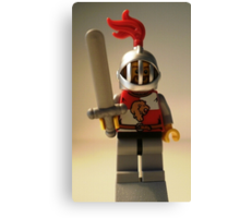 Lion Knight Quarters, Helmet with Fixed Grille Canvas Print