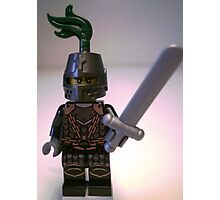 Dragon Knight with Chain Mail & Helmet Minifigure Photographic Print