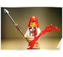 Ching Dynasty Chinese Dragon Warrior Custom Minifigure  Poster
