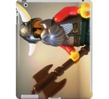 Viking Warrior with Custom Battle Axe iPad Case/Skin