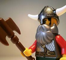 Viking Warrior with Custom Battle Axe by Customize My Minifig