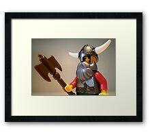 Viking Warrior with Custom Battle Axe Framed Print