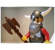 Viking Warrior with Custom Battle Axe Poster