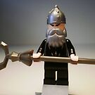 Mongolian Chinese Warrior Chief Custom Minifig by Chillee