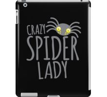 CRAZY SPIDER LADY iPad Case/Skin