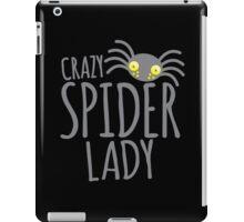CRAZY SPIDER LADY iPad Case/Skin