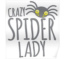 CRAZY SPIDER LADY Poster