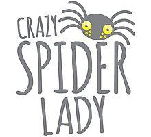 CRAZY SPIDER LADY Photographic Print