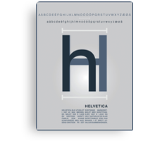 Helvetica The Typeface Canvas Print