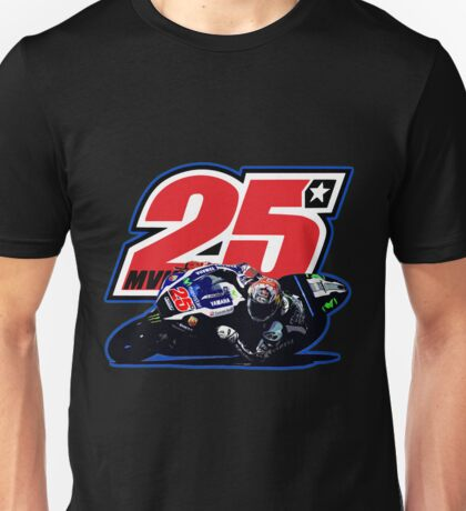 Maverick Vinales 25 and motorbike Unisex T-Shirt