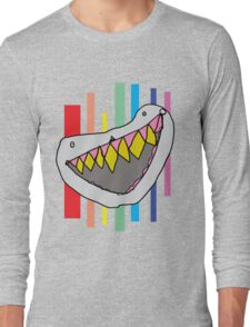 RTD0002C - Shark Teeth - Colour Long Sleeve T-Shirt