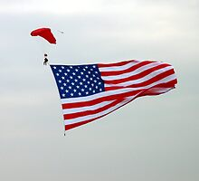 American Flag Skydiver  by nansnana62