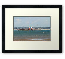 PS Waverley leaving Ryde Pier Framed Print
