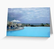 Pool by the Sea Greeting Card
