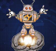 Helpful, handy robot by rubyred