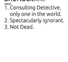Sherlock defined.  by cucumberpatchx