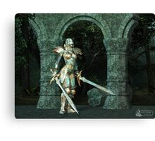 Angeluz - Knight in Shining Armour Canvas Print