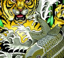 Tiger Attack Sticker