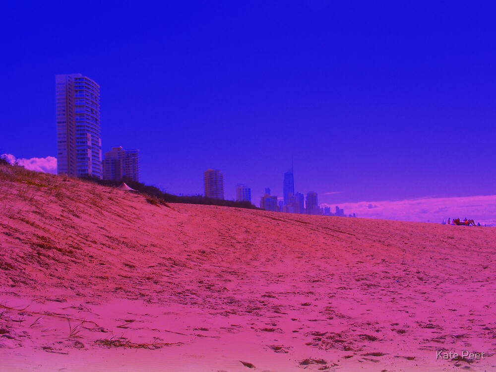 Surfers Paradise pink and blue by Kate Peet