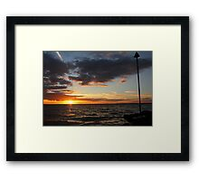 Gurnard Sunset Framed Print