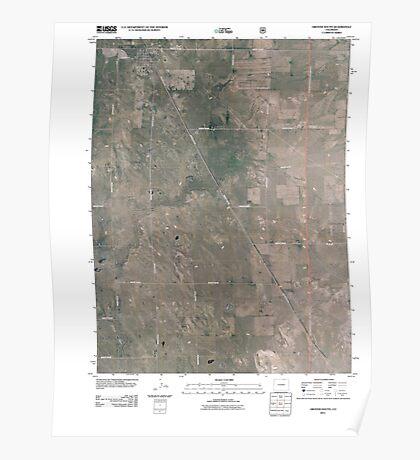 USGS TOPO Map Colorado CO Grover South 20110114 TM Poster