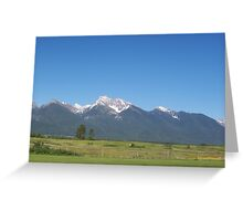 Rocky Moutains in Montana Greeting Card