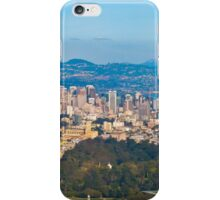 SF, Oakland & De Young in one Aerial shot iPhone Case/Skin