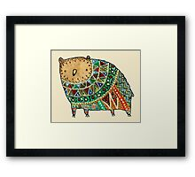 Aztec Bear Framed Print